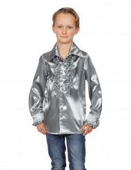 Camicia argentata con volant per bambino