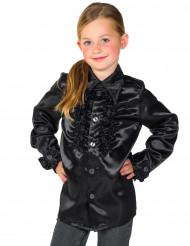 Camicia nera plissettata per bambino