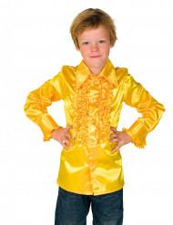 Camicia gialla plissettata per bambino