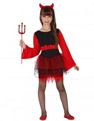 Costume da diavolo in tutu bambina halloween