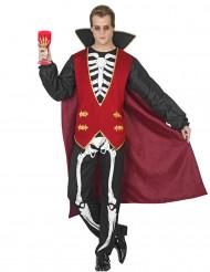 Costume vampiro scheletro uomo halloween