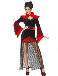 Costume vampiro donna in pizzo Halloween
