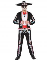 Costume messicano colorato uomo Dia de los muertos