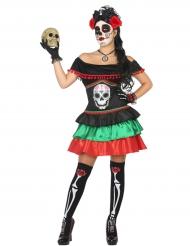 Costume donna messicana dia de los muertos
