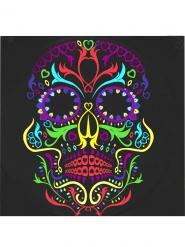 20 Tovaglioli neri con teschio Dia de Los Muertos