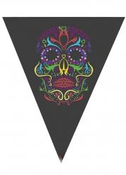 Decorazione per Halloween Ghirlanda con teschio colorato