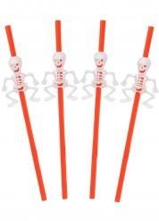 5 cannucce con scheletro Halloween