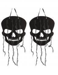 Decorazione per halloween teschi neri 63 cm