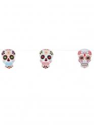 Decorazione per Halloween Ghirlanda teschi colorati dia de los muertos