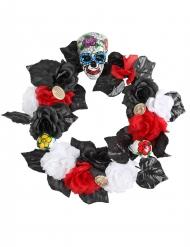 Decorazione per halloween corona di fiori Dia de los Muertos
