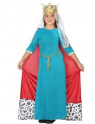 Costume Regina medioevo blu bambina