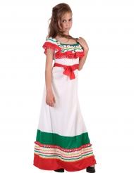 Costume lungo da messicana per bambina