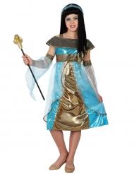 Costume azzurro da egiziana per bambina