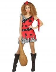 Costume preistorico rosso per donna