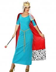 Costume Regina medievale blu donna