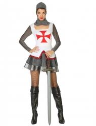 Costume da cavaliere crociato per Donna