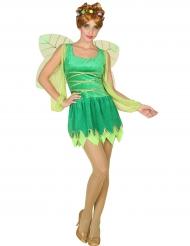 Costume verde da fata sexy per donna