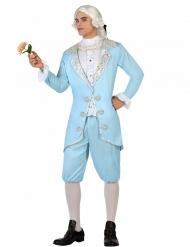 Costume da principe barocco azzurro per uomo