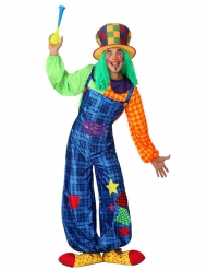 Costume Clown Patchwork blu uomo