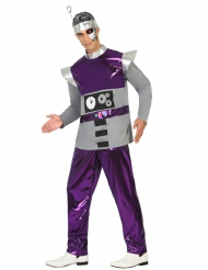 Costume Robot viola Uomo