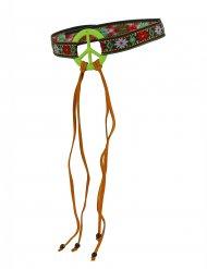 Fascia hippie con simbolo della pace per adulto