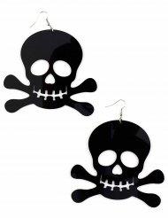Orecchini neri grandi da pirata per adulto