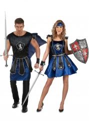 Costume di coppia cavalieri blu adulti