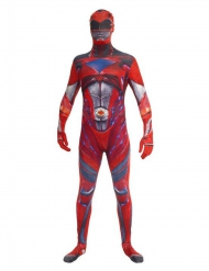 Costume Morphsuits™ Power Rangers™ Rosso deluxe Adulto