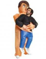 Costume gonfiabile uomo portato da nudista Morphsuits™ per adulto