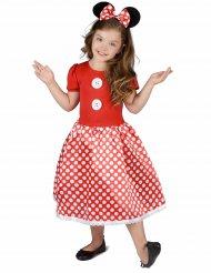 Costume da Topina a pois bianchi per bambina