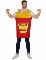 Costume da confezione di Patatine fritte per adulto