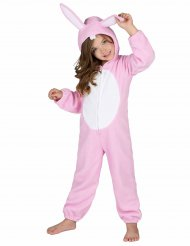 Costume da coniglio rosa per bambino