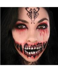 Tatuaggio temporaneo sorriso demoniaco adulto