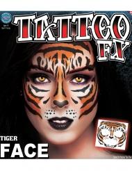 Tatuaggio temporaneo viso da tigre adulto