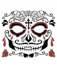 Tatuaggio temporaneo per viso Dia de los muertos uomo