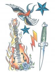 Tatuaggio temporaneo rock star per adulto