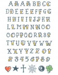 Tatuaggi temporanei lettere dell'alfabeto adulti