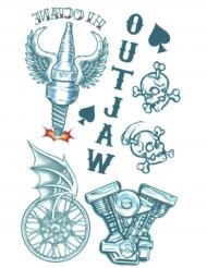 Tatuaggio temporaneo da motociclista per adulto