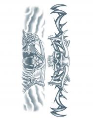 Tatuaggi temporanei morte personificata adulti