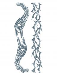 Tatuaggio temporaneo catene per adulto