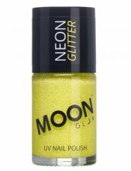 Smalto giallo con brillantini fosforescente per adulto Moonglow™