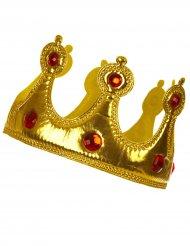 Corona dorata morbida per adulto