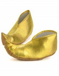 Copriscarpe dorati da sultano per adulto