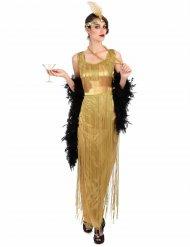 Costume charleston dorato a frange per donna