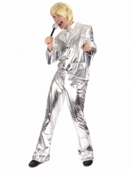 Costume disco argento per uomo