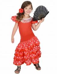 Costume da ballerina di flamenco rosso per bambina