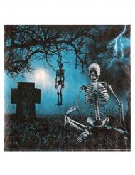 10 Tovaglioli in carta notte horror halloween