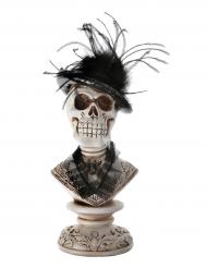 Mezzo busto decorativo teschio 27 cm halloween