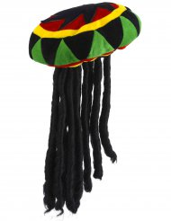 Image of Cappello rasta con dreadlock per adulto