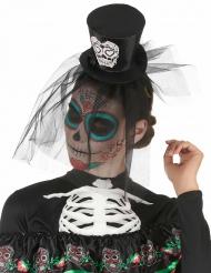 Cerchietto mini cappellp nero Dia de los muertos